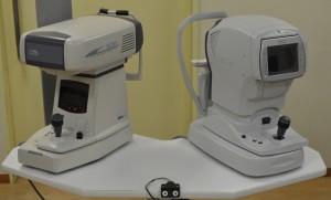 オートレフケラトメーター(自動眼屈折角膜計)、ノンコンタクトトノメーター(非接触式眼圧計)
